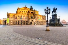 Opera in Dresden, Germany stock photos