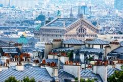 Opera Gannier från montmartre - Paris, Frankrike arkivfoto