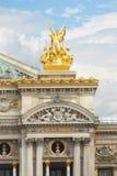 The Opera Garnier golden statue in Paris Stock Images