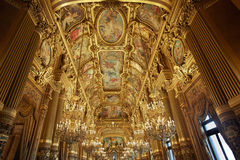 Opera Garnier interior in Paris, France Royalty Free Stock Photos