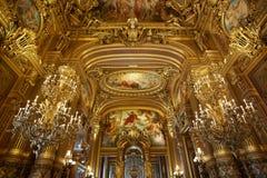 Opera Garnier interior in Paris, France Stock Photos
