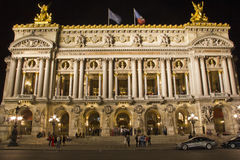 Opera Garnier at night, Paris Stock Images