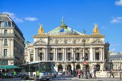 Opera Garnier, Parigi, Francia immagine stock libera da diritti