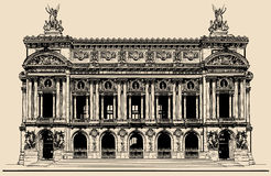 Opera Garnier in Parijs vector illustratie