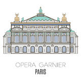 Opera Garnier, Parijs vector illustratie