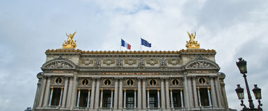 Opera Garnier in Parijs (in de dag) Royalty-vrije Stock Foto's