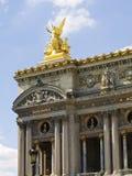 Opera Garnier in Paris. Spectacular part of the Opera facade in Paris Stock Photos