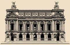 Opera Garnier in Paris vector illustration