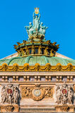 Opera Garnier rooftop paris city France Royalty Free Stock Photography