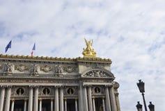 Opera Garnier top Building from Paris in France Stock Photos
