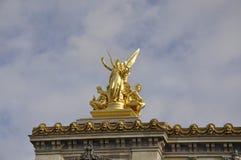 Opera Garnier Top Statues van Parijs in Frankrijk Royalty-vrije Stock Fotografie