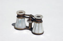 Opera Glasses. Vintage mother-of-pearl opera glasses Stock Photography