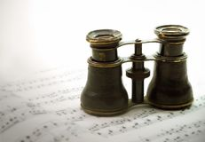 Opera glasses royalty free stock images