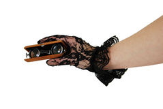 Opera Glasses in hand Royalty Free Stock Photography