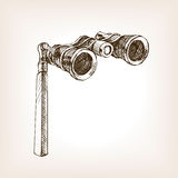 Opera glasses sketch style vector illustration Stock Photo