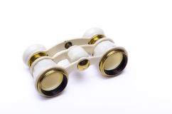Opera glasses on white Royalty Free Stock Image