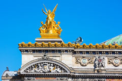 Opera grande (detalhe), Paris, França Fotos de Stock