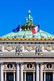 Opera grande (Opera Garnier) na manhã do verão, Paris, França Imagem de Stock Royalty Free
