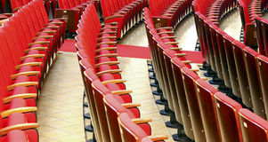 Opera hall pattern of seats Royalty Free Stock Photos