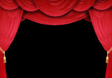 Opera House. Red curtain of a classical theater Stock Images