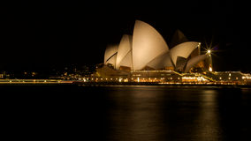 Opera House. Sydney Opera house at night time Royalty Free Stock Photo