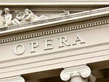 Opera house. Fragment of the opera house in Riga, Latvia Royalty Free Stock Photos