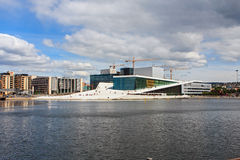 Opera house. The modern opera building at Oslo, Norway Stock Image