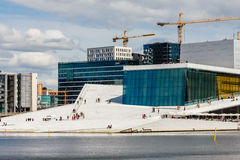 Opera house. The modern opera building at Oslo, Norway Stock Photography