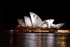 Opera House Australia during Vivid Sydney Festival Royalty Free Stock Images