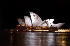 Opera House Australia during Vivid Sydney Festival Royalty Free Stock Images
