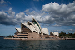 Opera house in blue sky. Royalty Free Stock Images