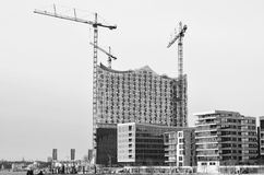 Opera house building site in Hamburg  Royalty Free Stock Photos