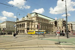 Opera House building in Vienna, Austria Royalty Free Stock Photos