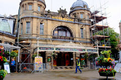 Opera house, Buxton, Derbyshire. Buxton, Derbyshire, UK. August 23, 2017. The Opera house was designed by Frank Matcham in 1909 and is the highest Opera house Stock Photos