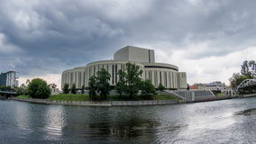 Opera House in Bydgoszcz - Timelapse Video stock video footage