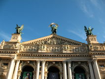 The Opera House in the center of Lviv Royalty Free Stock Photos