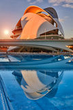 Opera house in the City of Arts & Sciences complex in Valencia Stock Photography