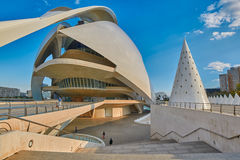 Opera house in the City of Arts & Sciences complex in Valencia Stock Image