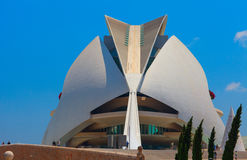 Opera house in The city of Arts and Sciences, Valencia Royalty Free Stock Images