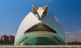 Opera house in The city of Arts and Sciences, Valencia Stock Images