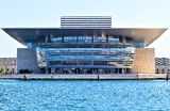 Opera House, Copenhagen. Denmark seen from Amalienborg Royalty Free Stock Photo