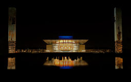 Opera house in Copenhagen at night Royalty Free Stock Photography