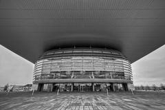 Opera house in Copenhagen in a wide-angle view Royalty Free Stock Image