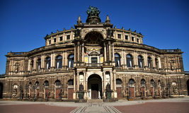 Opera House In Dresden. The Old Opera House in Dresden Royalty Free Stock Images