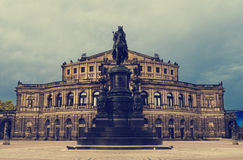Opera House in Dresden Royalty Free Stock Images