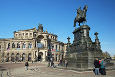 Opera House in Dresden Stock Image