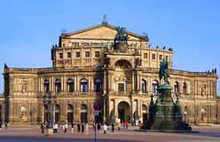 Opera house Dresden Stock Images
