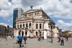 Opera house in Frankfurt Main, Germany Stock Images