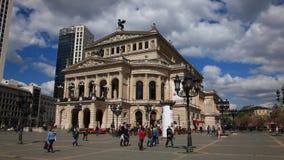 Opera house in Frankfurt Main, Germany stock video