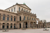 Opera House in Hannover. Staatsoper Hannover is an opera house and opera company in Hanover. It is one of the leading opera companies in Germany Stock Photo
